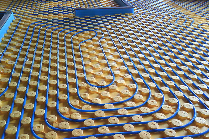 Calefacción por suelo radiante mediante tubo multicapa